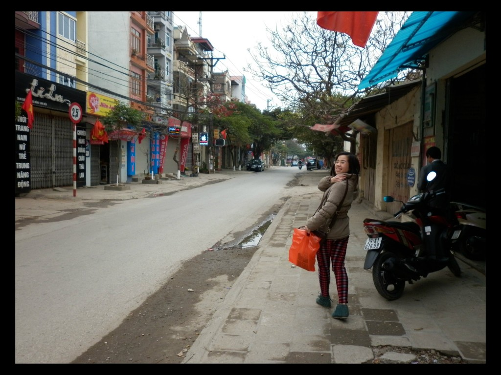 June on the empty streets in Hanoi on Tet.  A rare, magical sight.