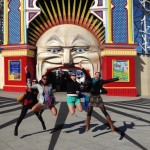 At Luna Park in St Kilda.