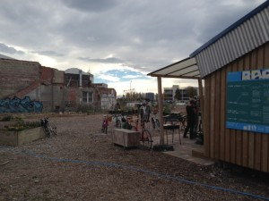 The RAD cycling space + a community garden