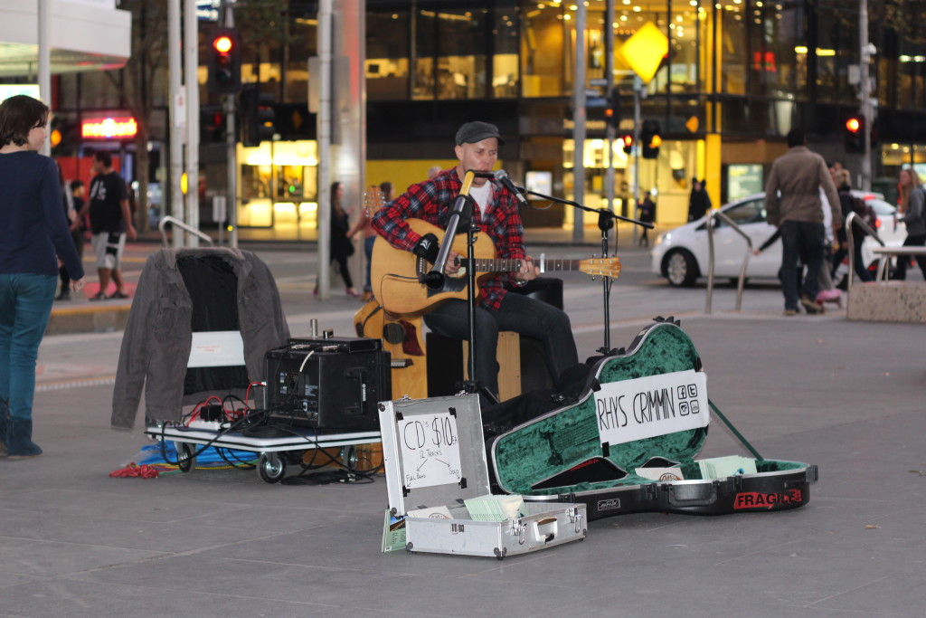 A talented busker in a city full of talented buskers. Photo by Catriona Morven Babbs.