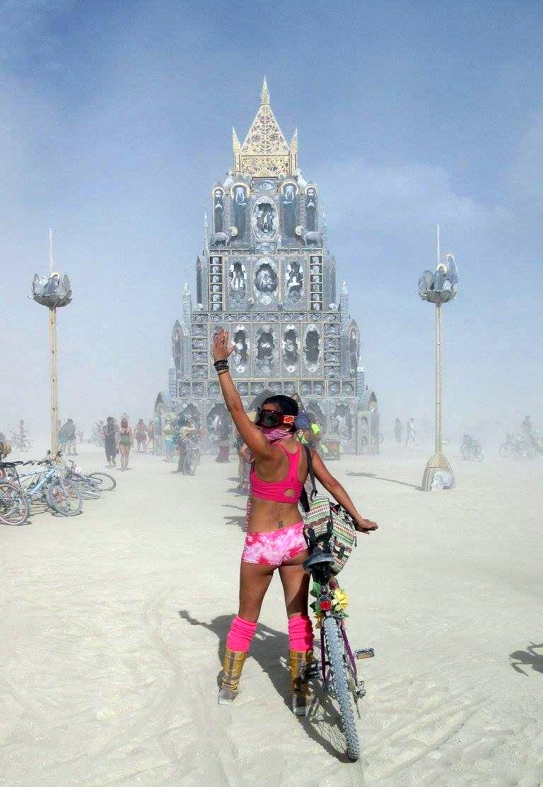 Dust storm on the playa.